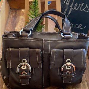 Like New Coach Soho Double Satchel Leather Bag